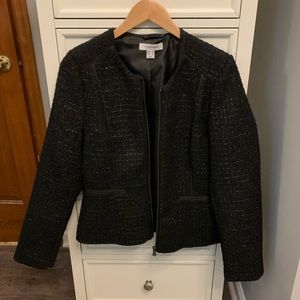 Black blazer with silver specks